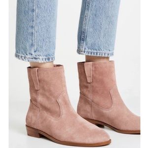 NEW Rebecca Minkoff Chasidy Pink Suede Booties
